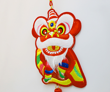 3D Paper Lion hanging Ornament— Dancing Lion greeting for the New Year